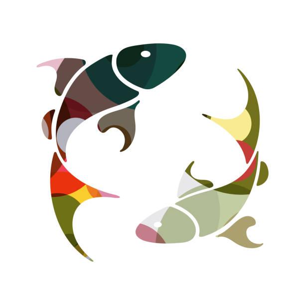 illustrations, cliparts, dessins animés et icônes de zodiaque poissons signe - pisces zodiac