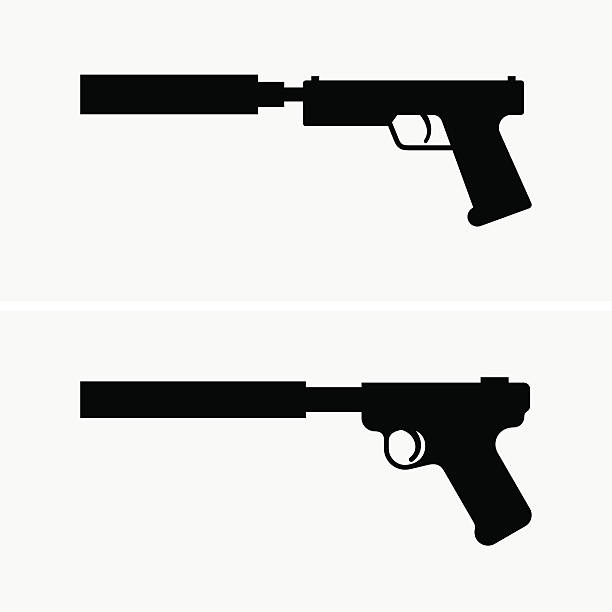 royalty free gun silencer clip art vector images