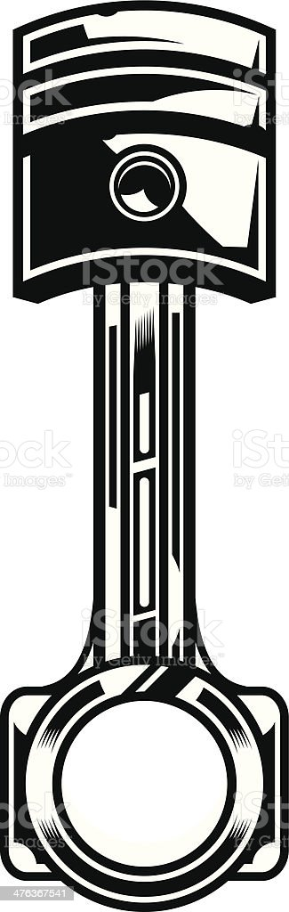 Piston vector art illustration