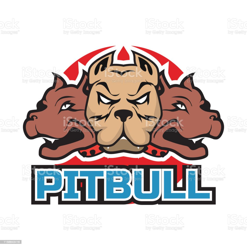 Pit Bull Dog Mascot Icon Isolated On White Background Vector