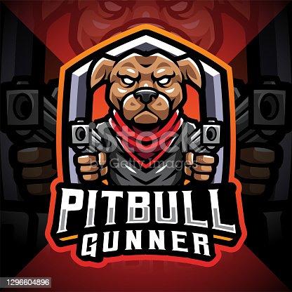 istock Pitbull gunner design idea 1296604896
