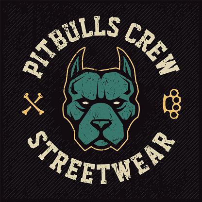 Pitbull Mascot Emblem Design