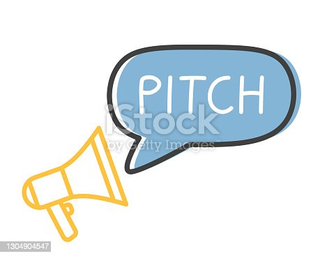 istock pitch word and megaphone icon 1304904547