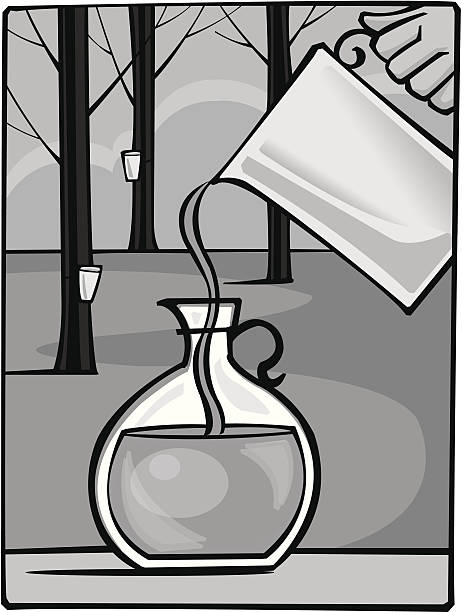 Pitcher Maple Syrup Pitcher Maple Syrup maple syrup stock illustrations