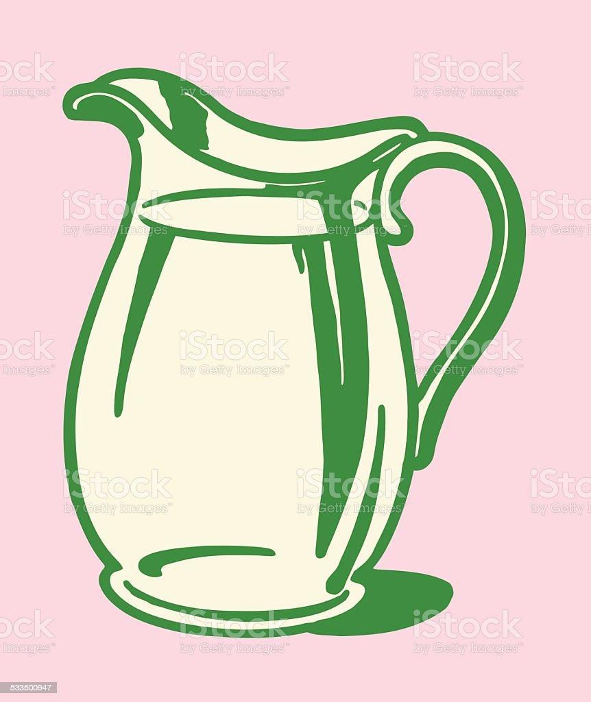 Pitcher of Clear Liquid vector art illustration
