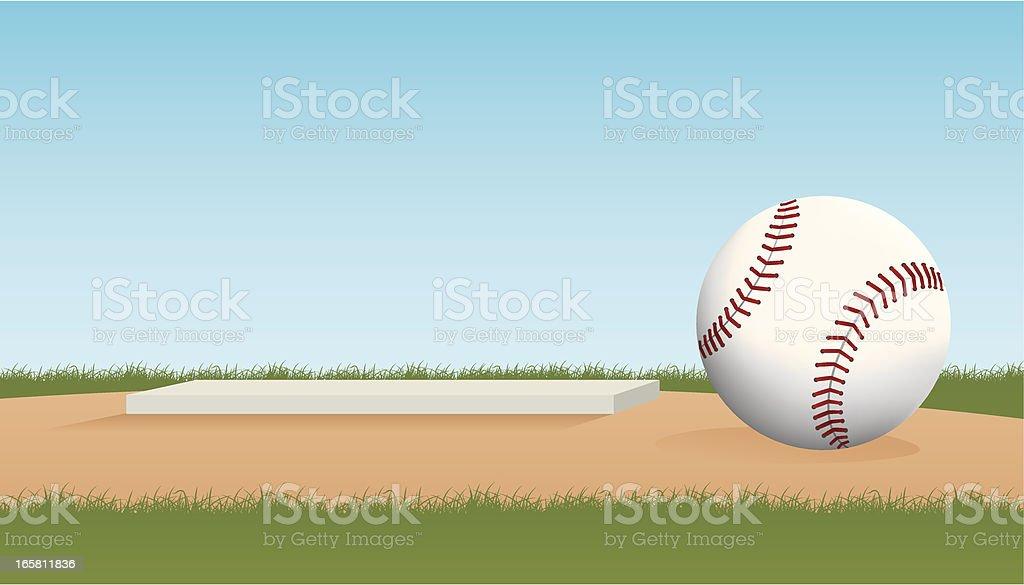 Pitcher's Mound vector art illustration