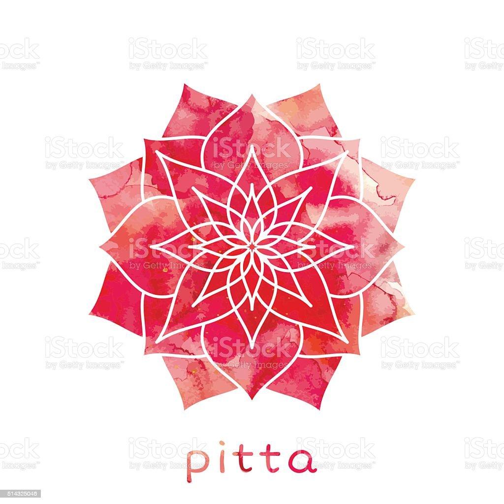 type de de dosha ayur-védique pour le corps Pitta - Illustration vectorielle
