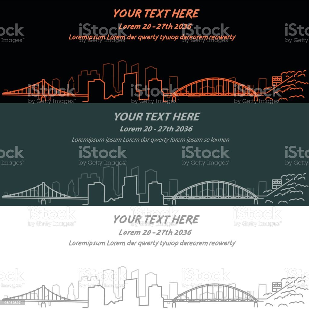 Pittsburgh Event Banner Hand Drawn Skyline pittsburgh event banner hand drawn skyline - immagini vettoriali stock e altre immagini di affari royalty-free