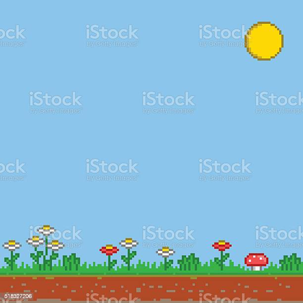 Pixel 8 bit game background vector sunny day vector id518327206?b=1&k=6&m=518327206&s=612x612&h=qpnfxcp874nfzm0qowkwueezdsj2shcxdntyyfy bda=