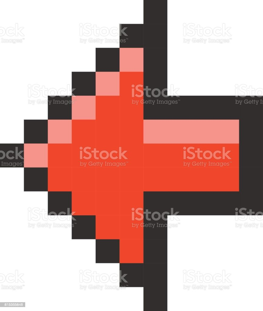 pixel arrow pointer icon link marker stock vector art more images