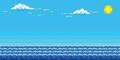 Backgrounds, Pixelated, Art, Bit - Binary, Summer