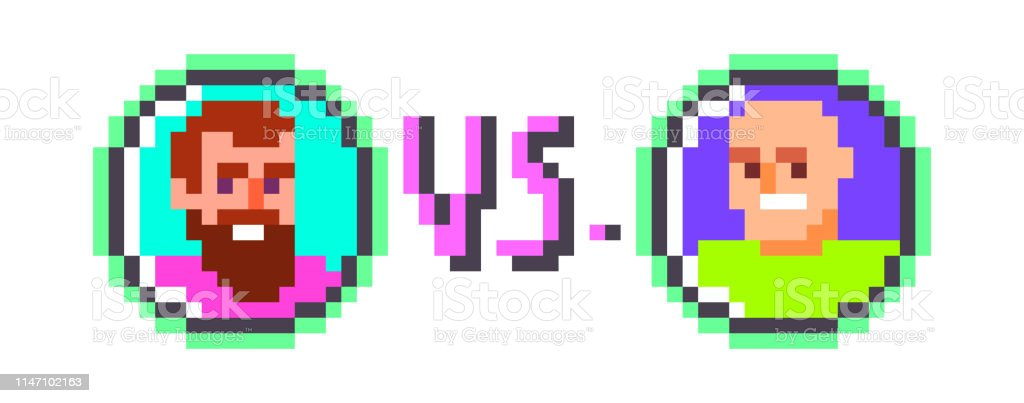 Vetores De Pixel Art Beatboxraphiphop Design Poster Batalha Jogador Escolhendo No Vintage 8 Bit Jogo De Luta De Vídeo Dois Caráteres Masculinos Uns Contra Os Outros Ruaundergroundurban Music Culutre Banner E Mais