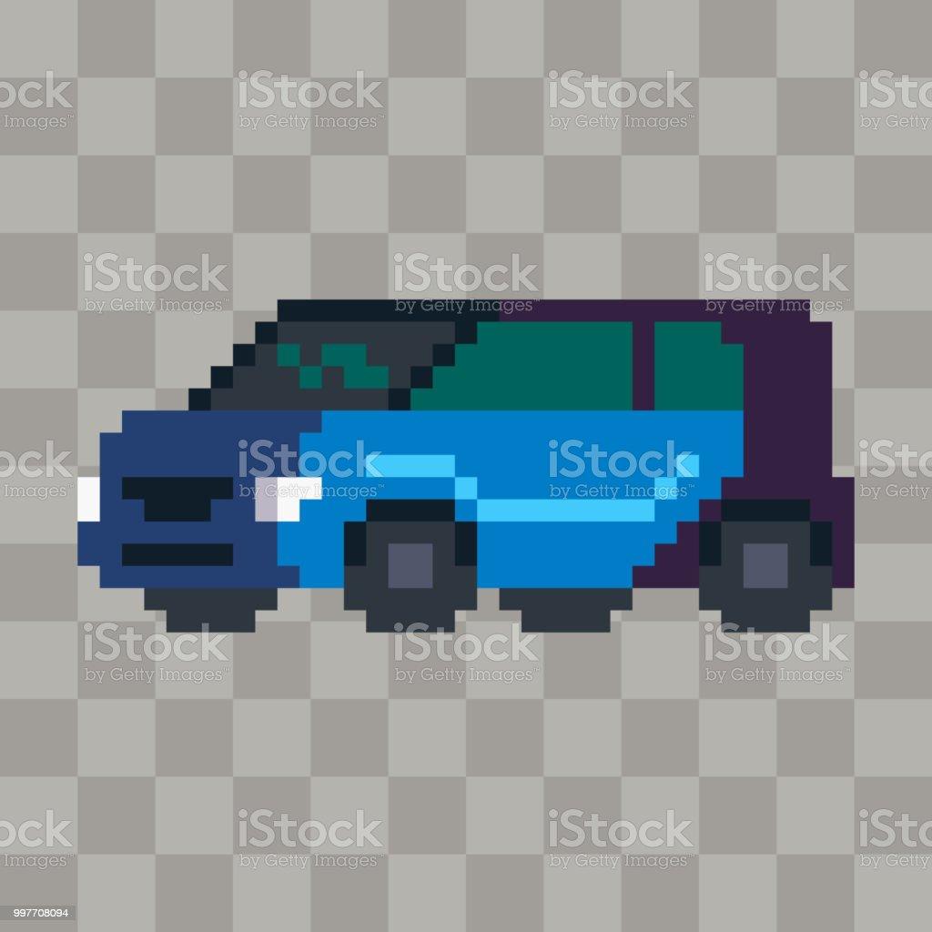 Pixel Art Ville Voiture Véhicule Icône Vecteurs Libres De