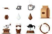 istock Pixel Art Coffee Icons 165812658