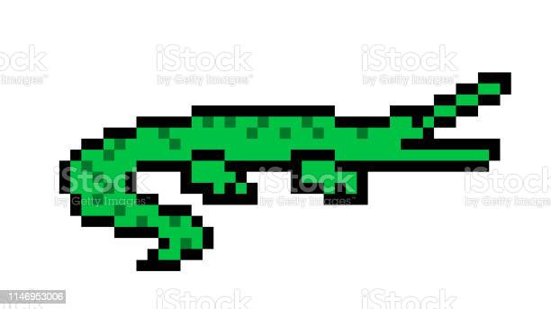 A Crocodile Sticker On White Background Download Free