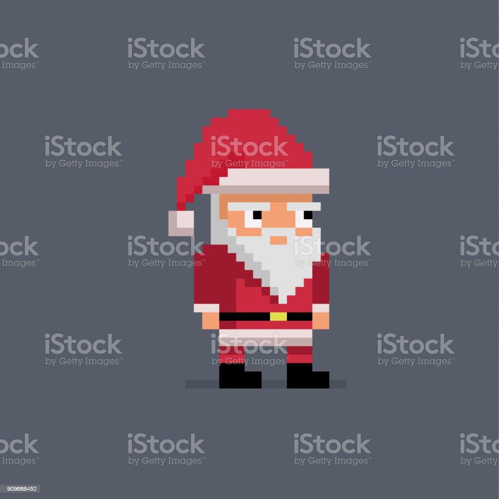 204d6908781c Pixel art cute santa claus. royalty-free pixel art cute santa claus stock  vector