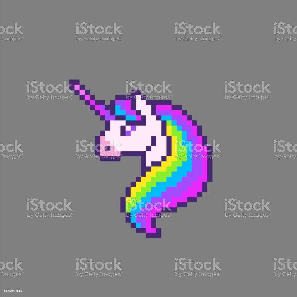 Licorne Mignon De Pixel Art Cliparts Vectoriels Et Plus D Images