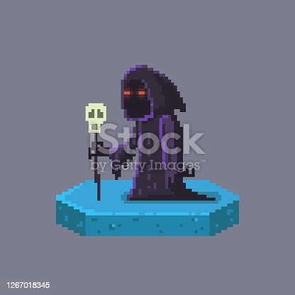 istock Pixel art death character. Fairytale personage. 1267018345