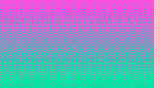Pixel art dithering background in pink and green color.