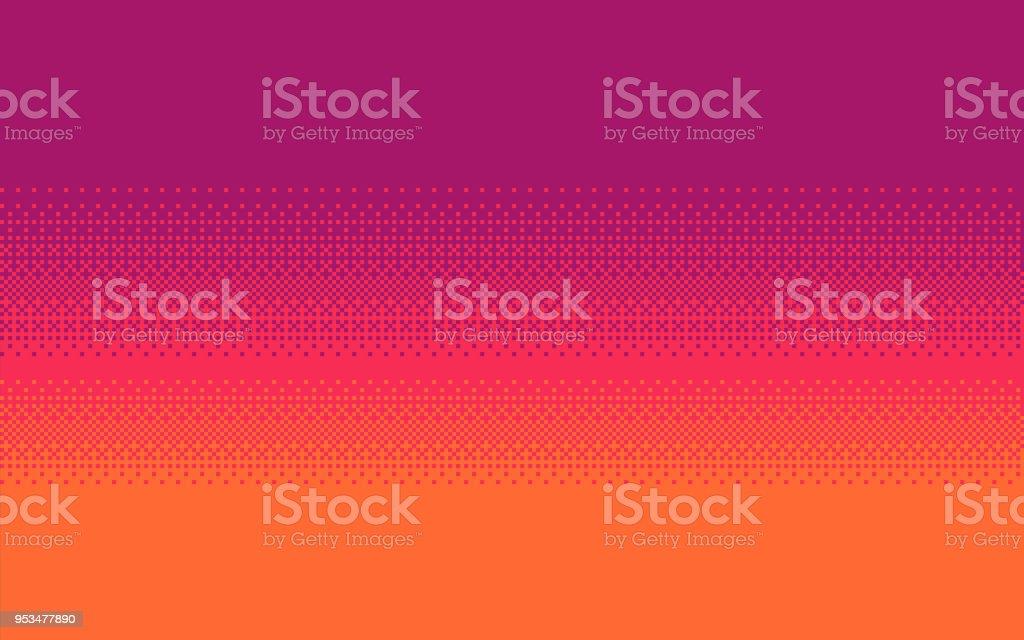 Pixel art dithering background. vector art illustration