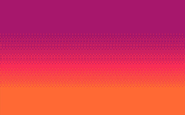 Pixel art dithering background. Pixel art dithering background in three colors. pixelated stock illustrations