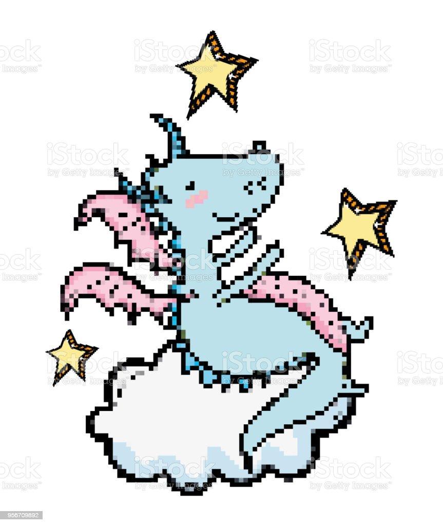 Pixel Art Fantasy Cartoon Royalty Free Stock Vector Amp