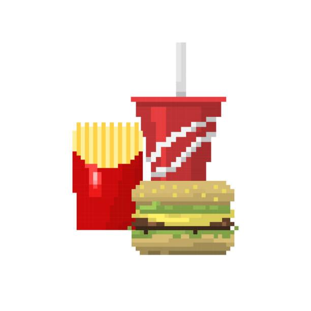 Illustration Design Pixel Art Fries Illustrations Royalty