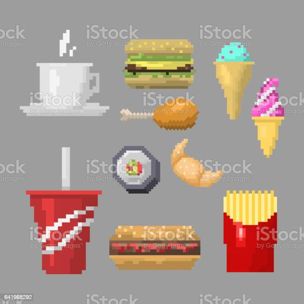 Hamburger Pixel Art Vecteur Telecharger Vectoriel Gratuit