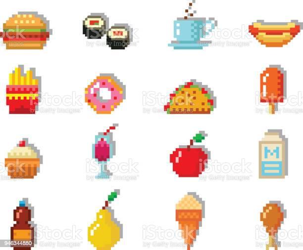 Hamburger Pixel Art Vecteur Telecharger Vectoriel Gratuit