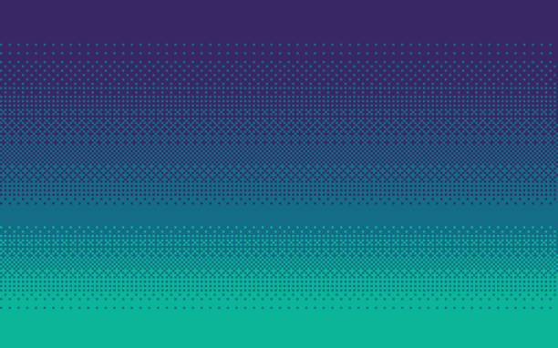 Pixel art gradient color. Dithering vector background. Pixel art dithering background in three colors. leisure games stock illustrations