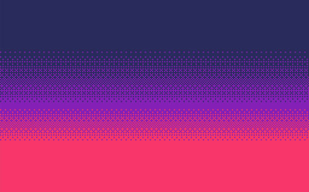Pixel art gradient color. Dithering vector background. Pixel art dithering background in three colors. video game stock illustrations