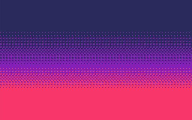 Pixel art gradient color. Dithering vector background. Pixel art dithering background in three colors. pixelated stock illustrations
