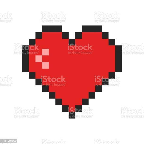 Pixel Heart Free Vector Art 11875 Free Downloads