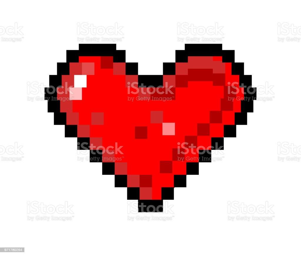Coeur Dart Pixel Dun Cœur De Dessin Vectoriel Illustration