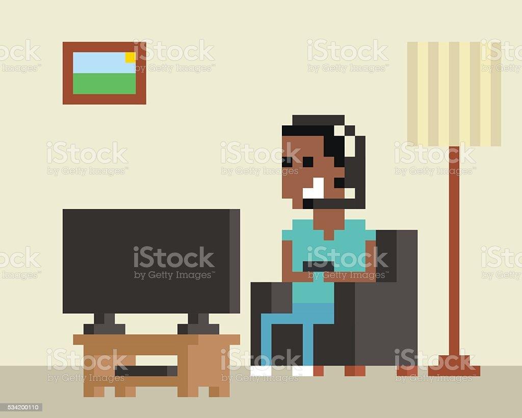 Pixel art image de joueurs jeu en ligne la maison for Construisez votre maison en ligne