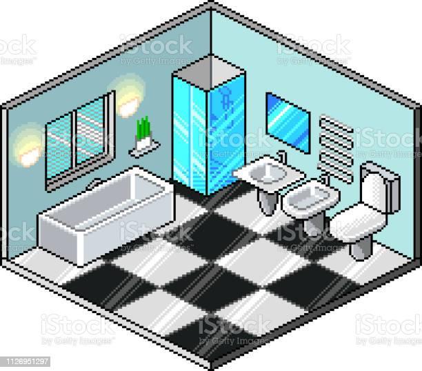 Pixel Art Isometric Room Detailed Vector Illustration Stock Illustration Download Image Now Istock