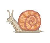 Pixel art land snail icon