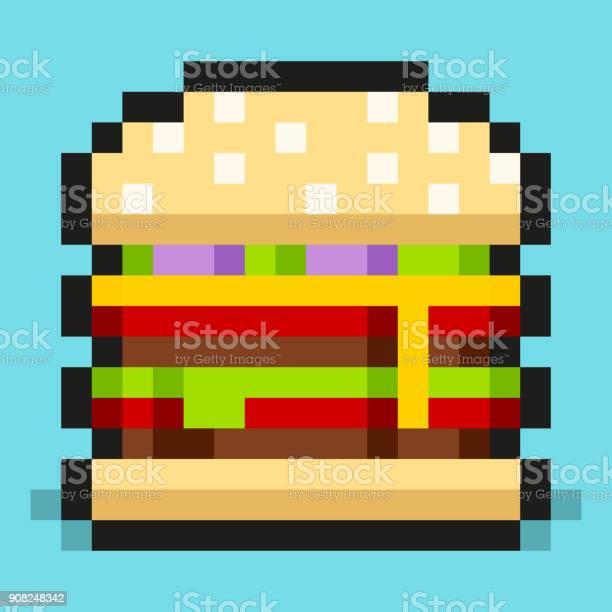 Hamburger Pixel Art Vector Download Free Vectors Clipart
