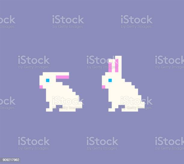 Pixel art rabbit icons vector id909217962?b=1&k=6&m=909217962&s=612x612&h=fplwbbqa2441hfdy mj7mfa rkt  quwjoch2ccu6k4=