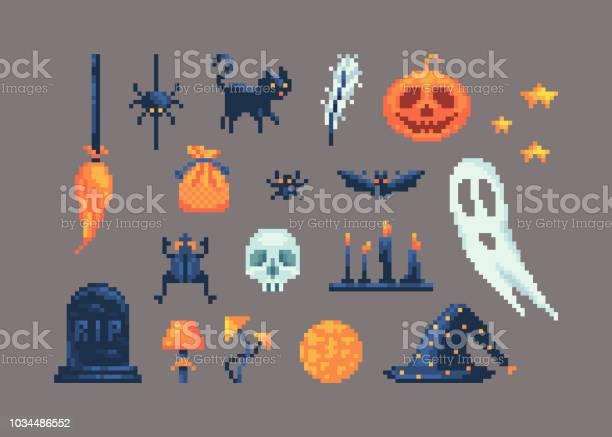 Pixel art set of different items for design on halloween vector id1034486552?b=1&k=6&m=1034486552&s=612x612&h=dpvpajxv4 ftw09j yiwys3tnjc4e56jz6bevyqzrao=
