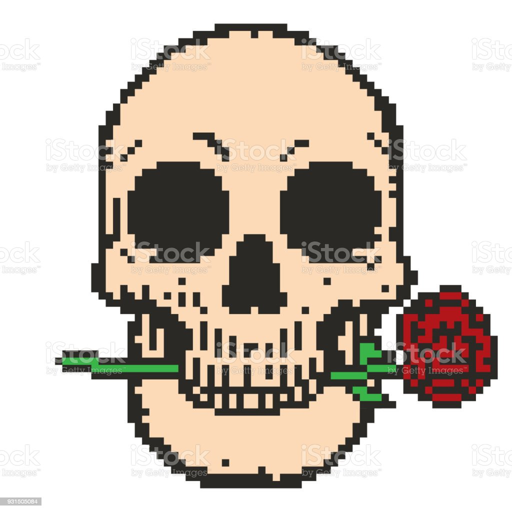 skull roses vector art nice clipart and vector graphic