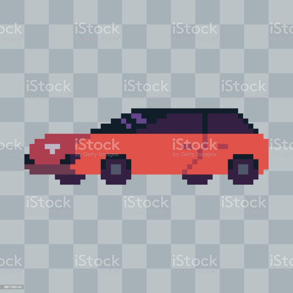 Pixel Art Sport Voiture Véhicule Icône Vecteurs Libres De