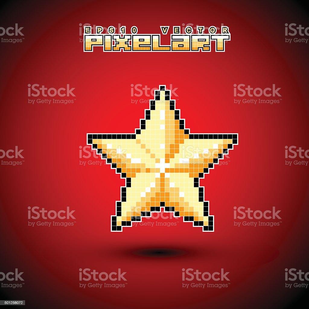 Pixel Art Star Stock Illustration Download Image Now Istock