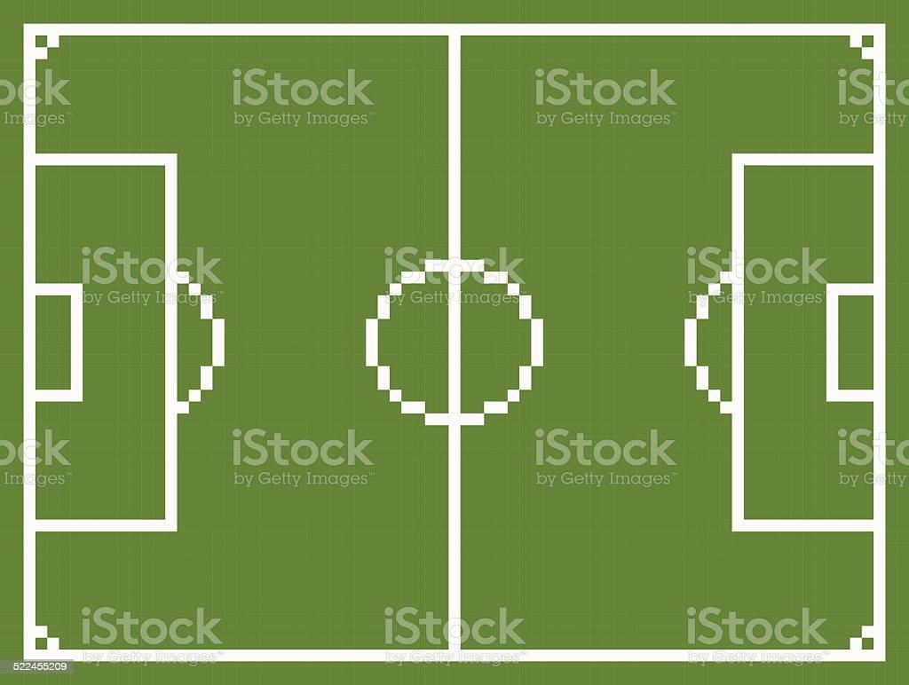 Pixel Art Style Football Sport Field Soccer Playground Stock