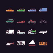 Pixel Art Transport