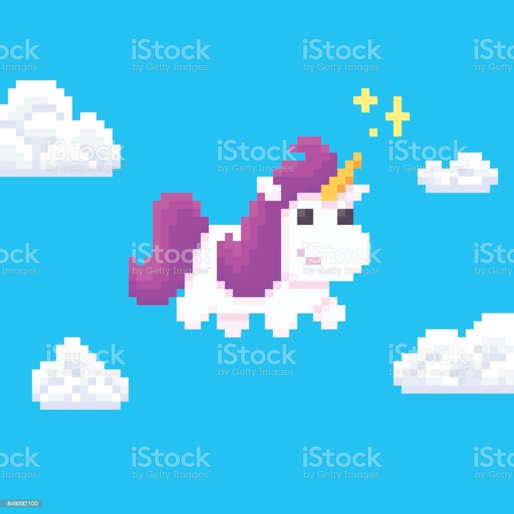 Pixel Art Licorne Cliparts Vectoriels Et Plus D Images De Affiche