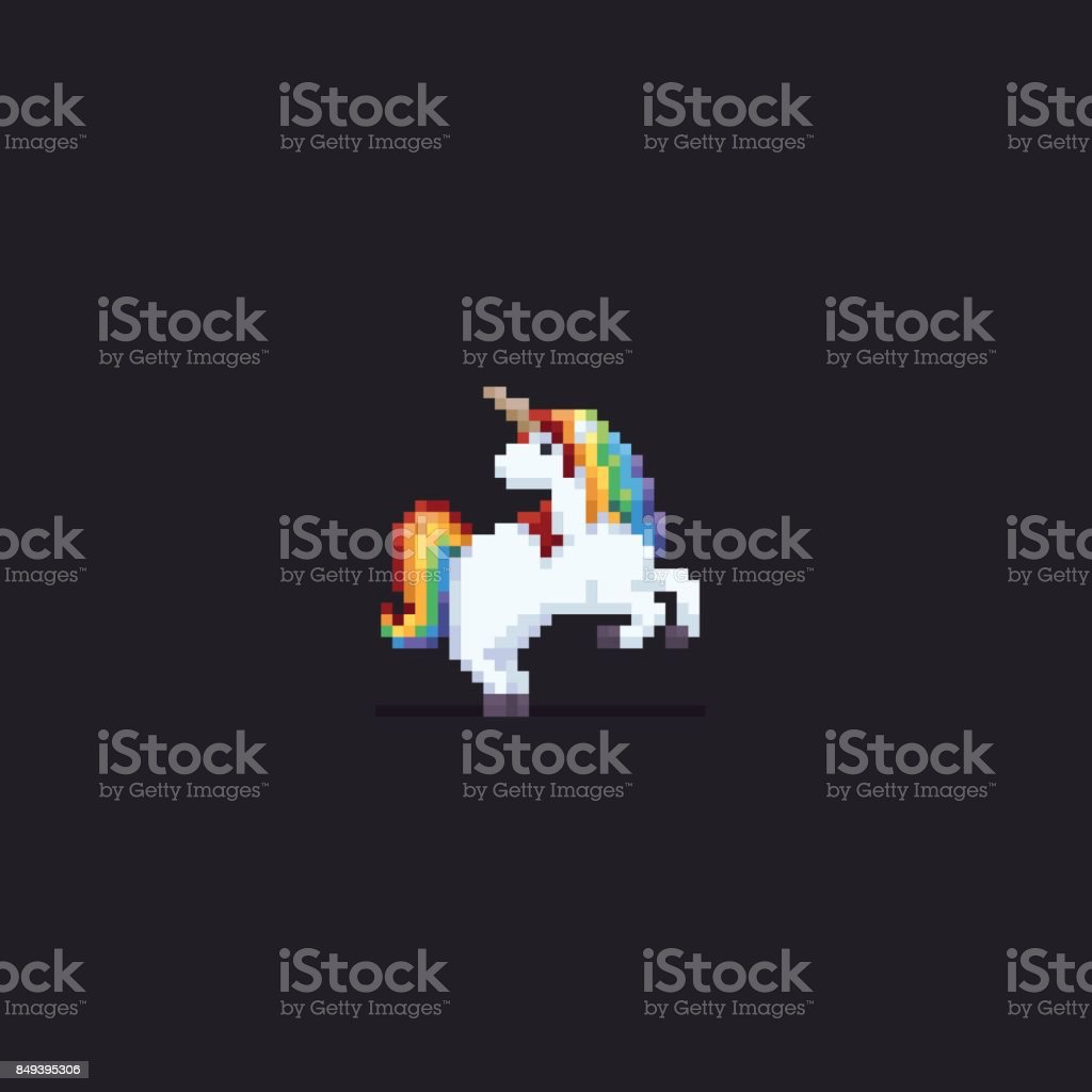 Pixel Art Unicorn Stock Illustration Download Image Now