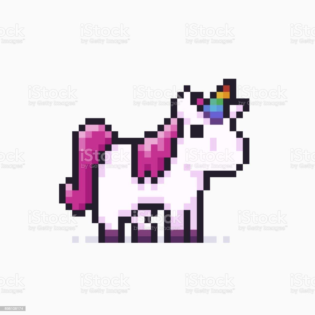 Pixel Art Licorne Vecteurs Libres De Droits Et Plus Dimages