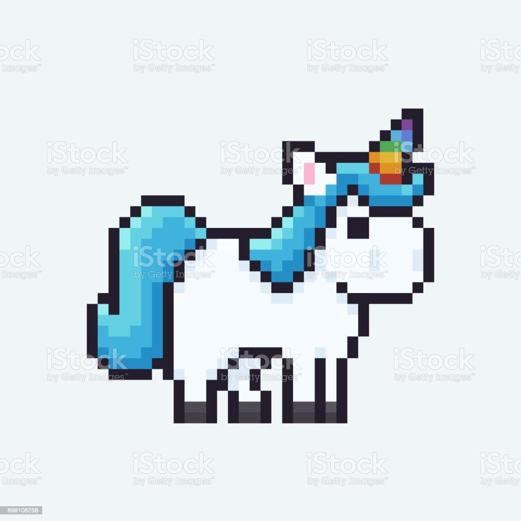 Pixel Art Licorne - Cliparts vectoriels et plus d'images ...