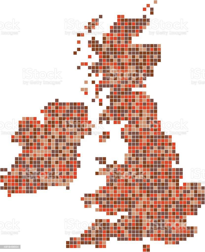 Pixel Art United Kingdom Stock Illustration Download Image